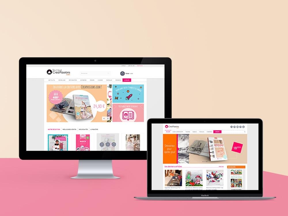 Un nouveau site internet pour Creapassions.com