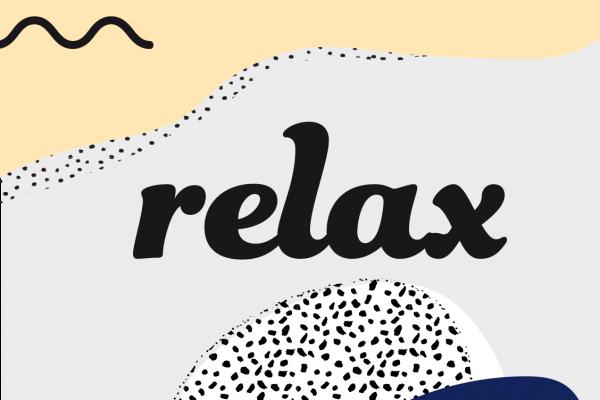 recherches préparatoires du logo du centre relax par Camille Garnier