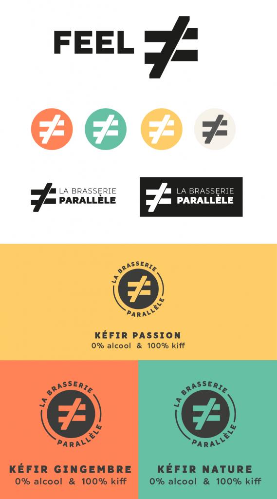 esquisse logo brasserie parallèle par camille garnier