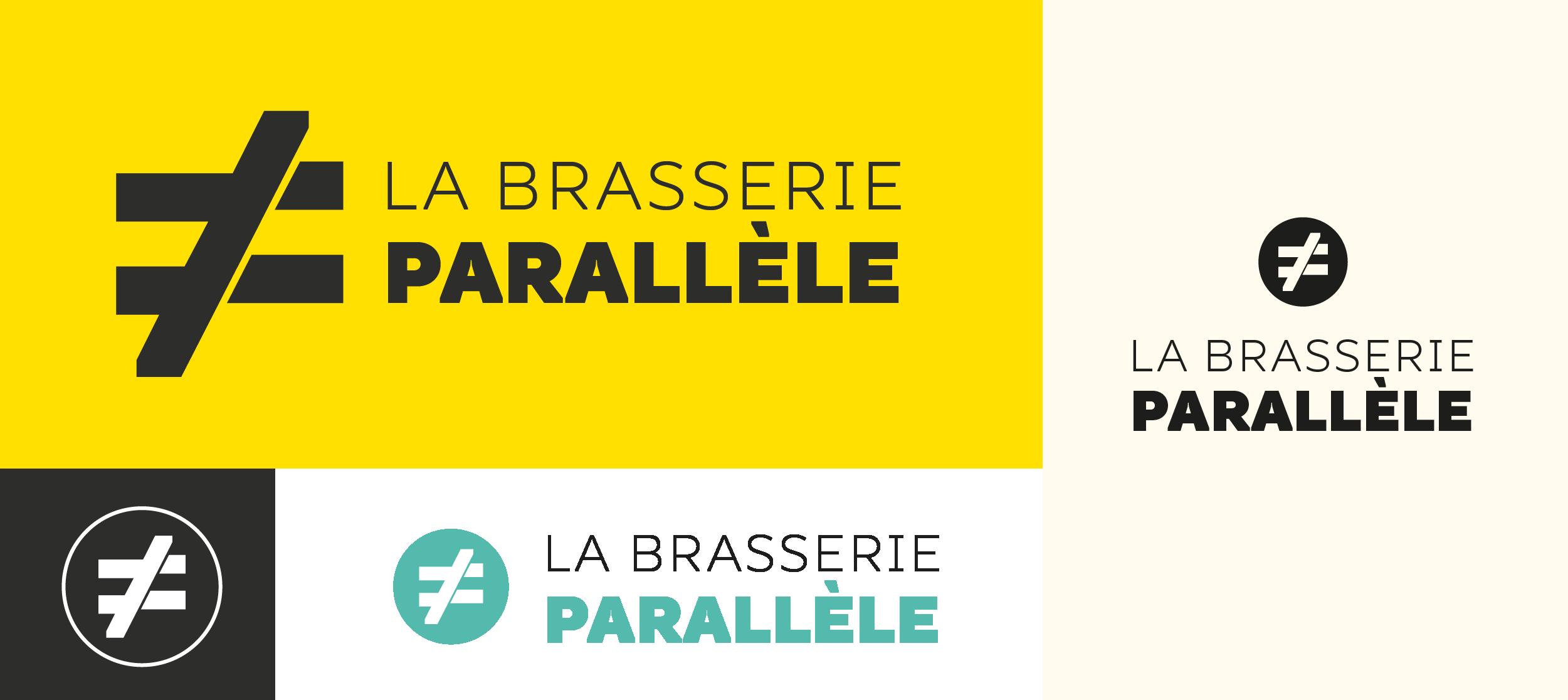 declinaison logo brasserie parallele
