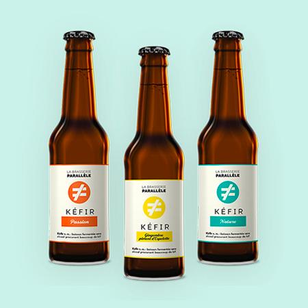 Logo & packaging de la Brasserie Parallèle