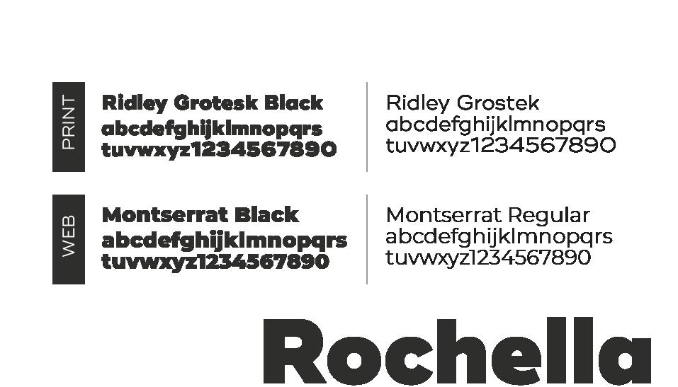 typographie logo rochella immobilier