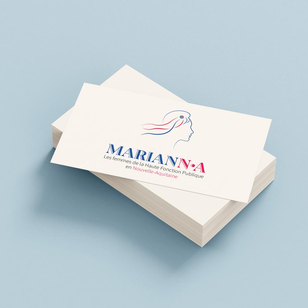 carte visite marianna par camille garnier graphiste