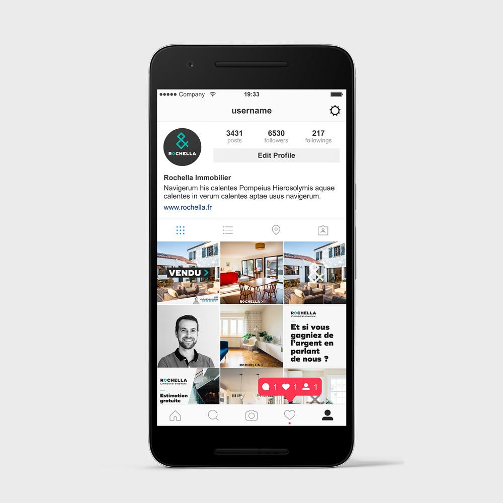 charte instagram rochella immobilier