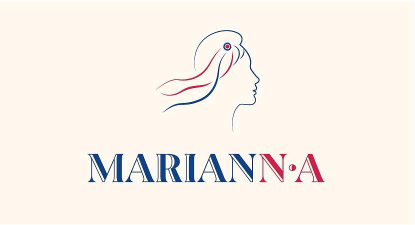 Identité visuelle de MarianNA, <br>réseau de femmes hautes fonctionnaires en Nouvelle Aquitaine