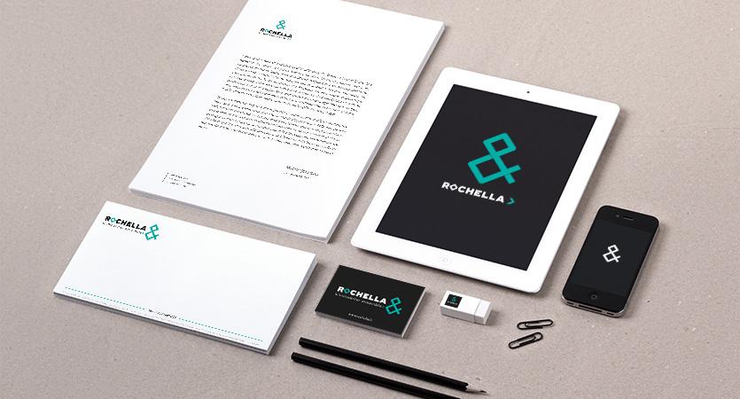 Identité visuelle du réseau Rochella Immobilier