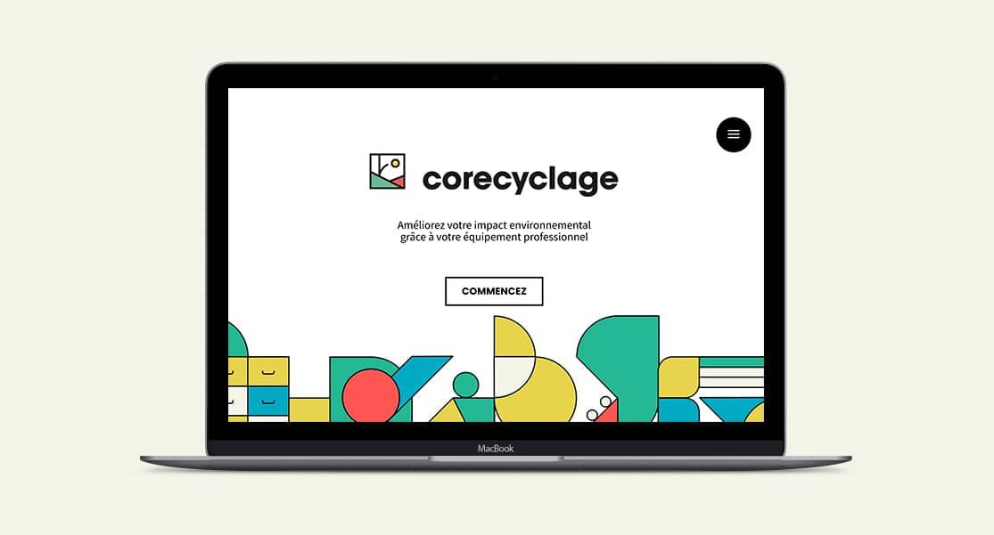 Identité visuelle & site internet de Corecyclage